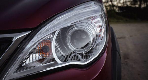 2020 BAIC M50S headlamps view