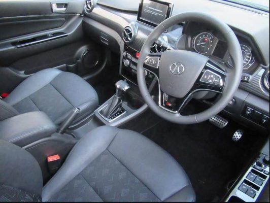 2020 BAIC X25 front cabin interior view