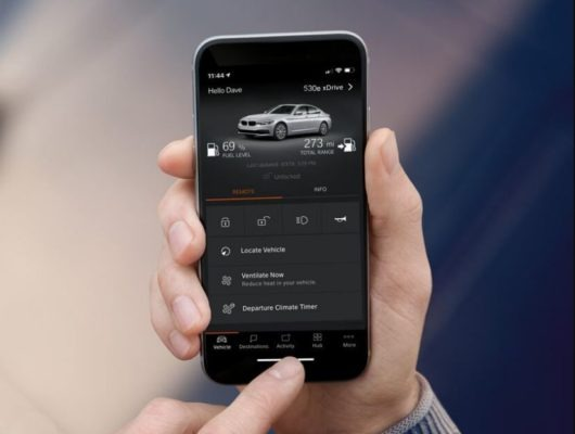 2020 BMW xDriver iPerformance Plugin-Hybrid mobile app feature