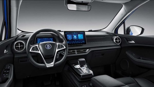 2020 BYD Yuan EV 535 full front cabin interior view