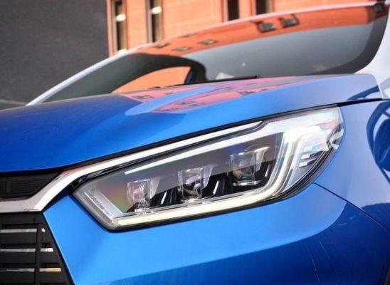 2020 BYD Yuan EV 535 headlights close view