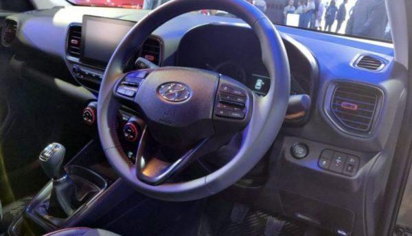 2020 Hyundai Venue interior cabin