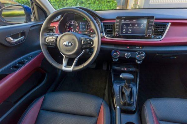 2020 KIA Rio Sedan front cabin interior view
