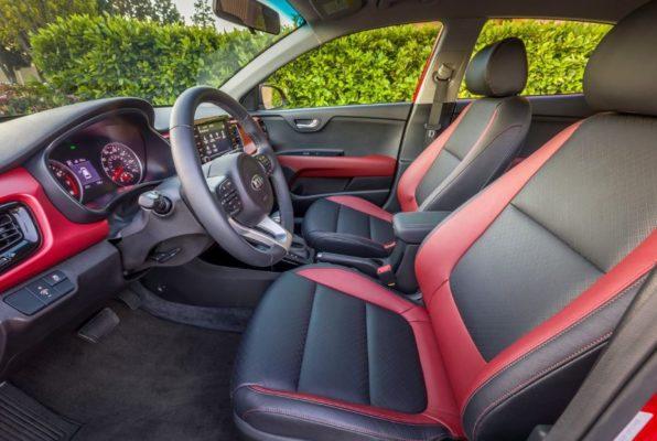 2020 KIA Rio Sedan front seats