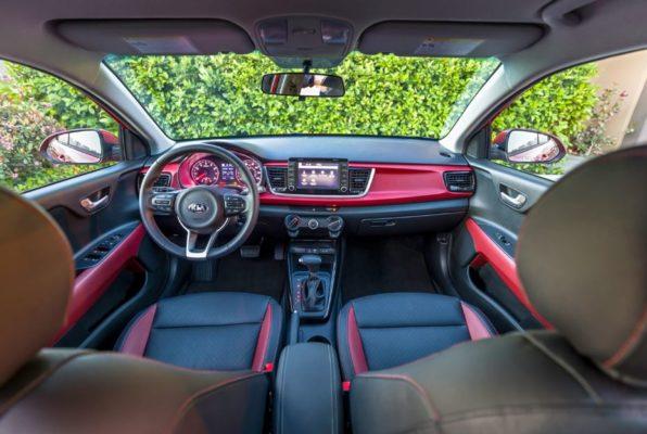 2020 KIA Rio Sedan full front cabin interior view