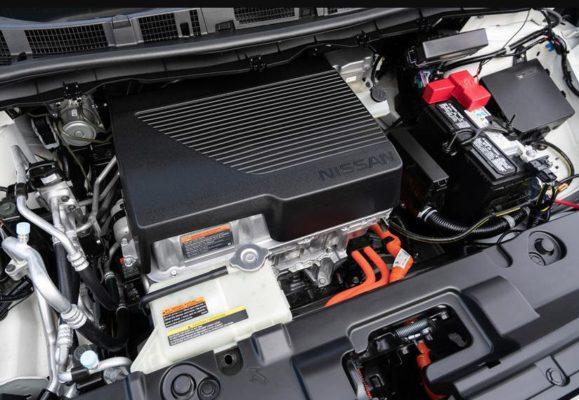2020 Nissan Leaf under the hood