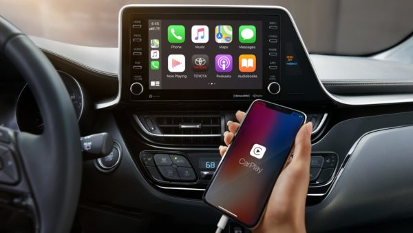 2020 Toyota CHR infotainment Screen & Apple car play view