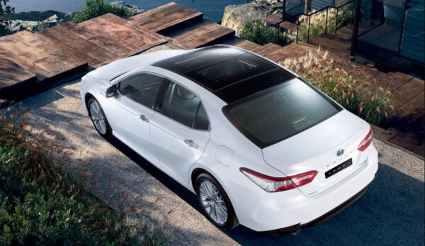 2020 Toyota Camry Hybrid Upside Moon Roof View