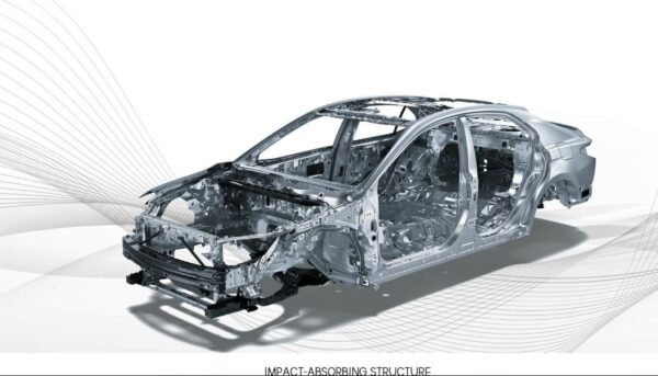 2020 Toyota Camry Hybrid brake impact absorbing structure