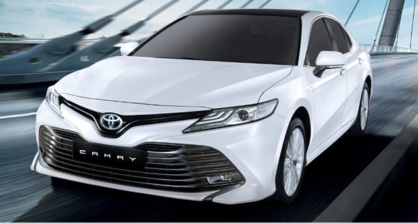 2020 Toyota Camry Hybrid front view close
