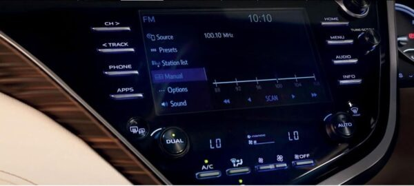 2020 Toyota Camry Hybrid infotainment screen view