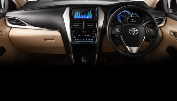 2020 Toyota Yaris Dashboard and infotainment screen View