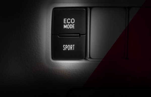 2020 Toyota Yaris eco and sport mode buttons
