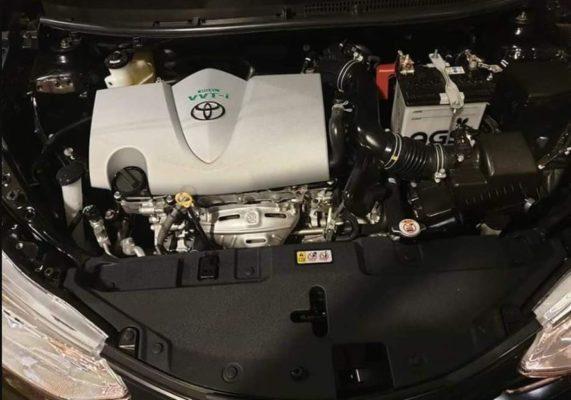2020 Toyota Yaris engine view