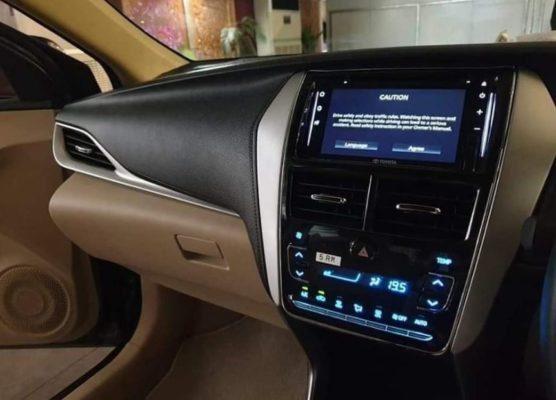 2020 Toyota Yaris full infotainment system view