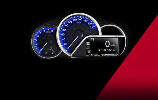2020 Toyota Yaris information meters