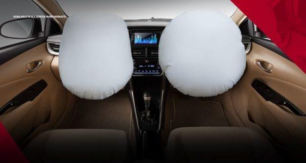 2020 Toyota Yaris safety with dual airbags