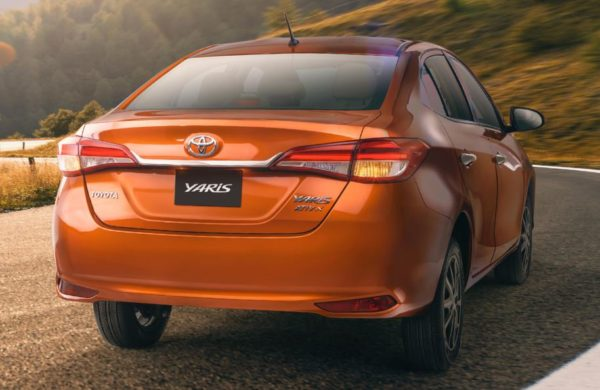 2020 Toyota yaris Rear View