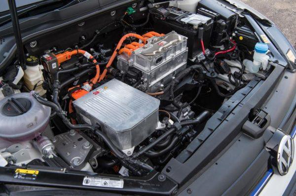 2020 Volkswagen E-Golf under the hood view