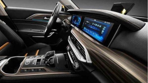 2020 Xiaomi Bestune T77 SUV interior view front cabin