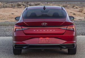 2021 Hyundai Elantra rear view