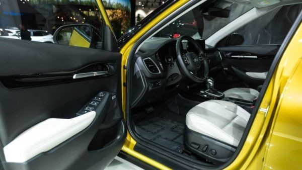 2021 KIA Seltos door inside view