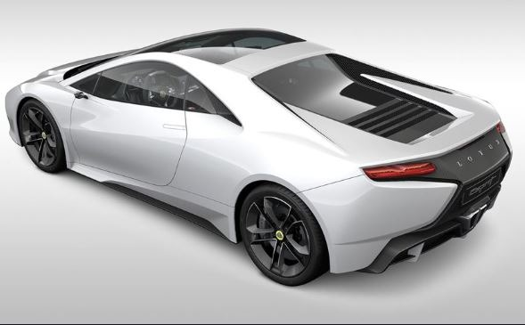 2021 Lotus Esprit V6 Hybrid Rear View