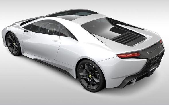 2021 Lotus Esprit V6 Hybrid Rear View