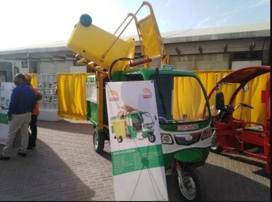 Electric Rickshaw Displayed by Crown Group
