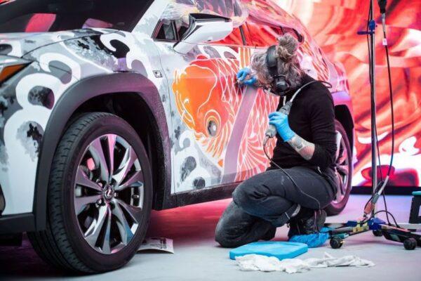 Lexus Tattoed car - beautiful finishing