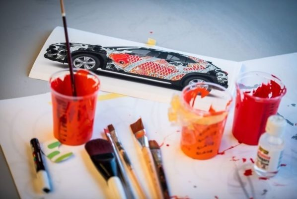 Lexus Tattoed car - concept image and Paint used