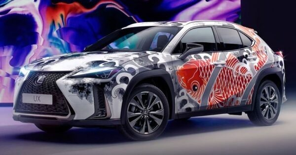 Lexus Tattoed car - final product after finishing