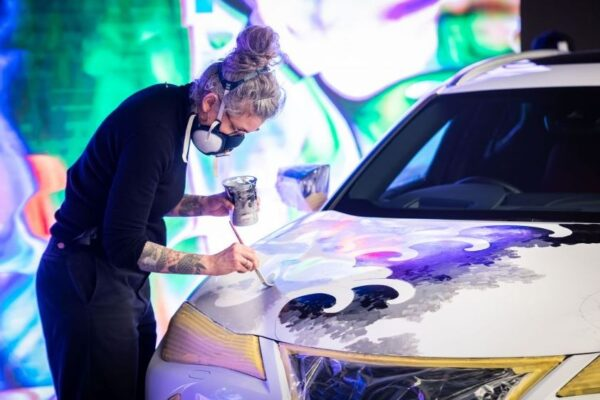 Lexus Tattoed car high quality paint is also done with hands