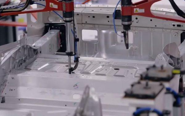 Tesla's KUKA Robots Working