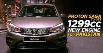 proton Saga Sedan will have 1299 cc engine for Pakistan