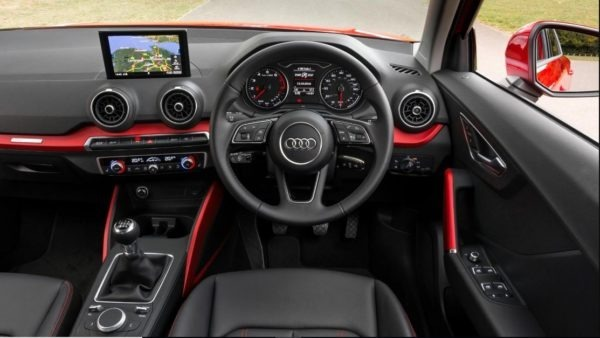 2020 Audi Q2 front cabin interior view