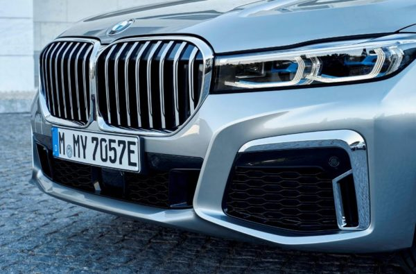 2020 BMW 7 Series front headlights close view