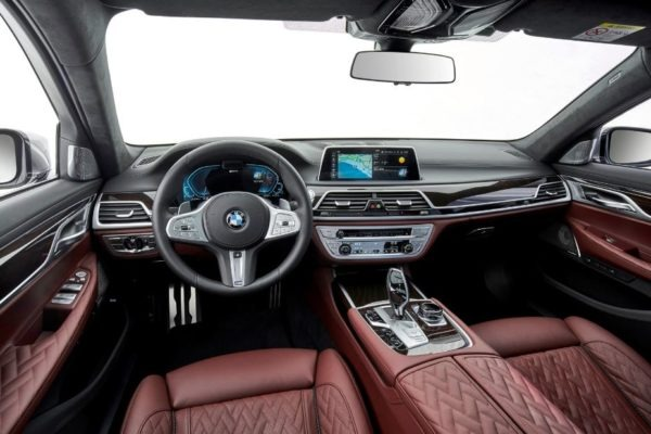 2020 BMW 7 Series full front interior cabin view