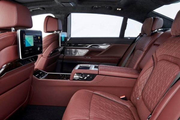 2020 BMW 7 Series luxury rear seats view