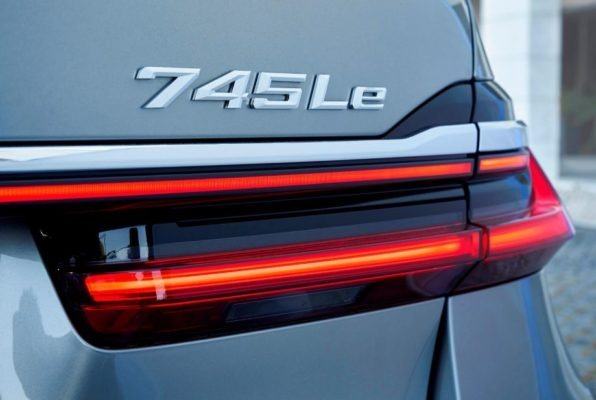 2020 BMW 7 Series rear tail lights close view