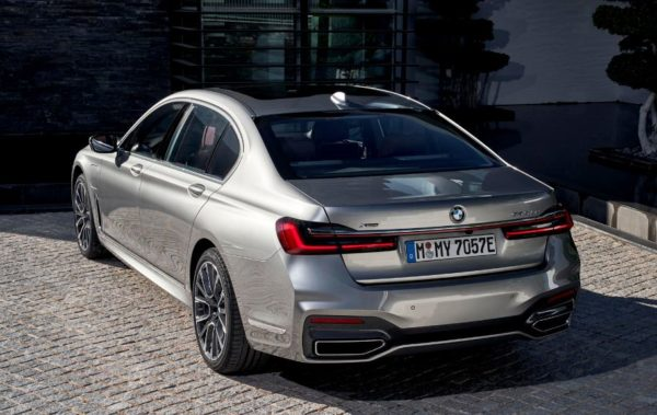 2020 BMW 7 Series upside rear view
