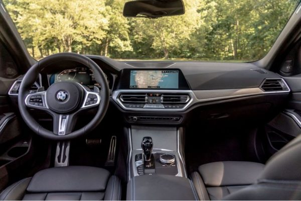 2020 BMW M304i front interior cabin full view