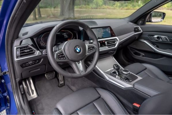 2020 BMW M304i front interior cabin view