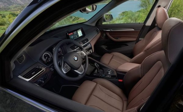 2020 BMW X1 Series front seats view