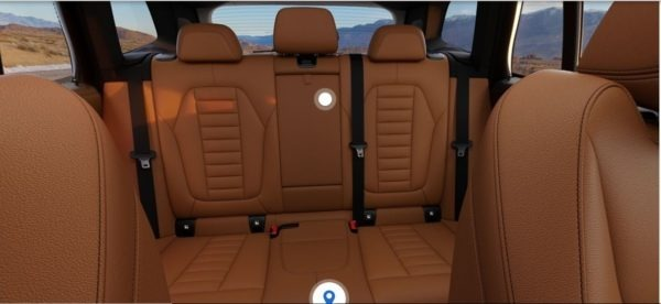 2020 BMW X3 Series Rear Seats view