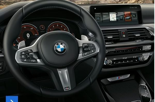 2020 BMW X3 Series Steering Wheel Close View