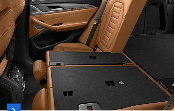 2020 BMW X3 Series folding rear seats