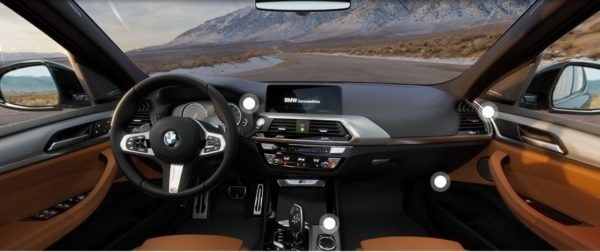 2020 BMW X3 Series front cabin interior view