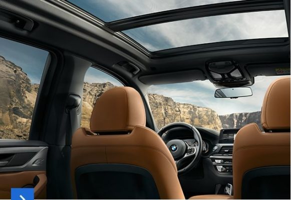 2020 BMW X3 Series front panoramic glass view