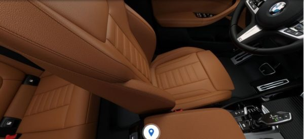 2020 BMW X3 Series front seats view